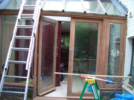 Wooden conservatory treatment