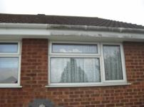 50% gutter and fascia cleaned 50% not cleaned