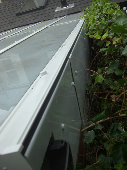 Repairs new glazing bars and fascia board to prevent leaks