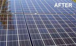 Dirty solar panels reduce the power output