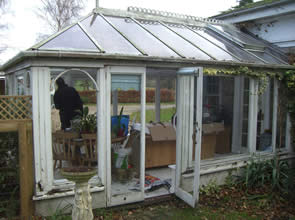 Conservatory before maintenance and repairs